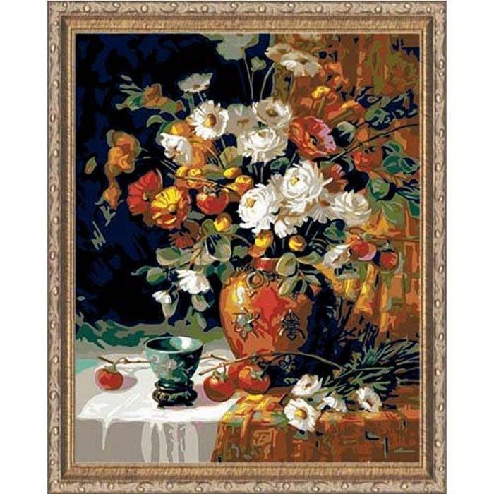 Хурма и хризантемы Раскраска картина по номерам Plaid ...