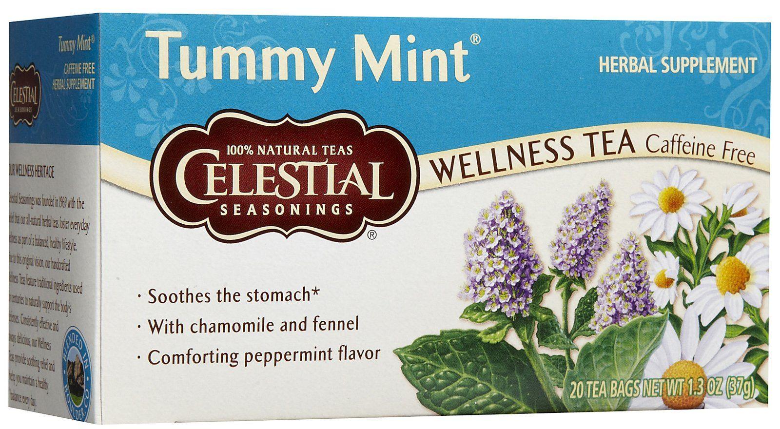 Celestial Seasonings Tummy Mint Tea Bags 20 ct Free Shipping