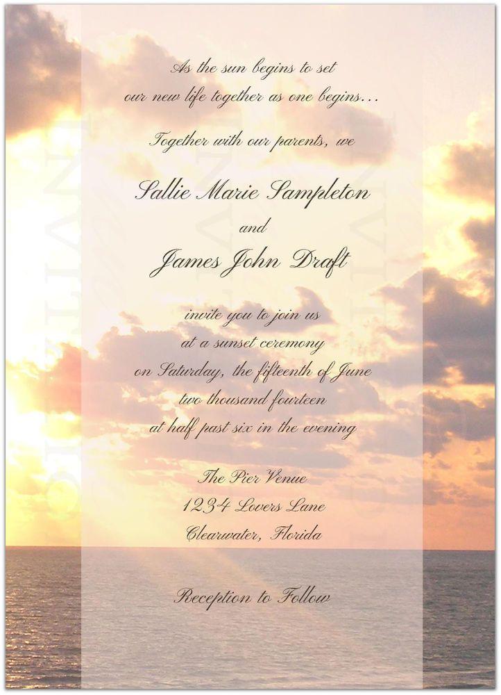 23+ Sunset beach wedding invitations information