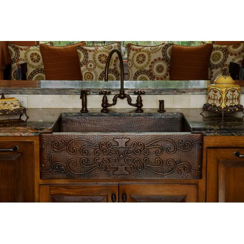 Pin By Kim Mcfarland On M Likes Apron Front Kitchen Sink Copper Farmhouse Sinks Apron Sink Kitchen