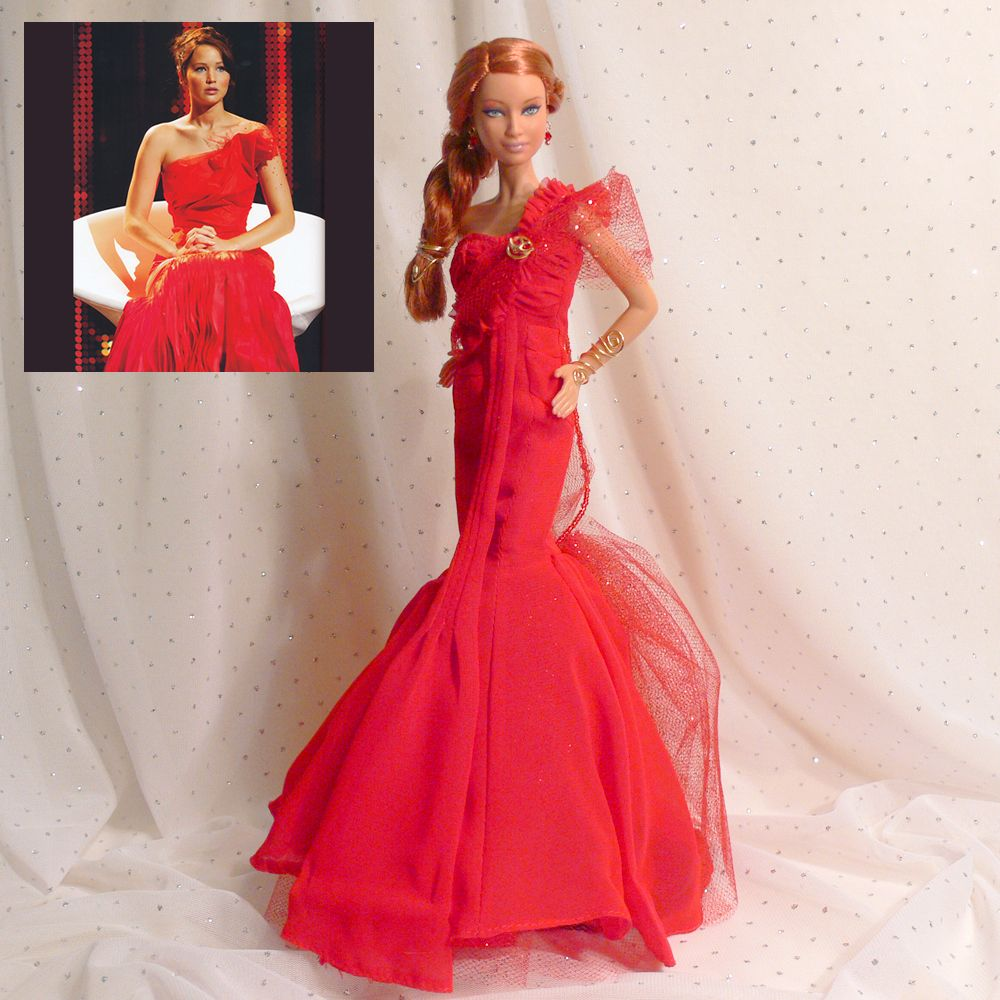 One of a Kind Doll Katniss Everdeen – Girl on Fire Dress - The Hunger Games Trilogy