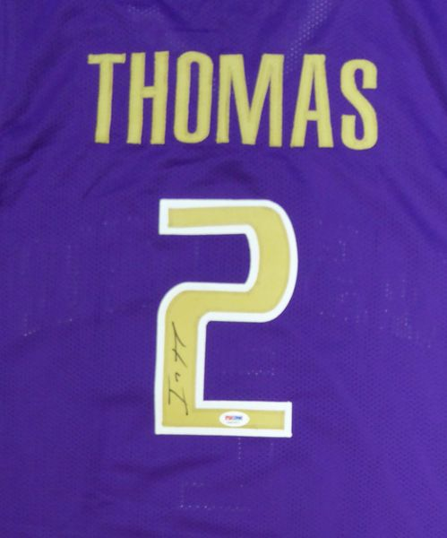uk availability d3e90 18cfd Washington Huskies Isaiah Thomas Autographed Purple Jersey ...