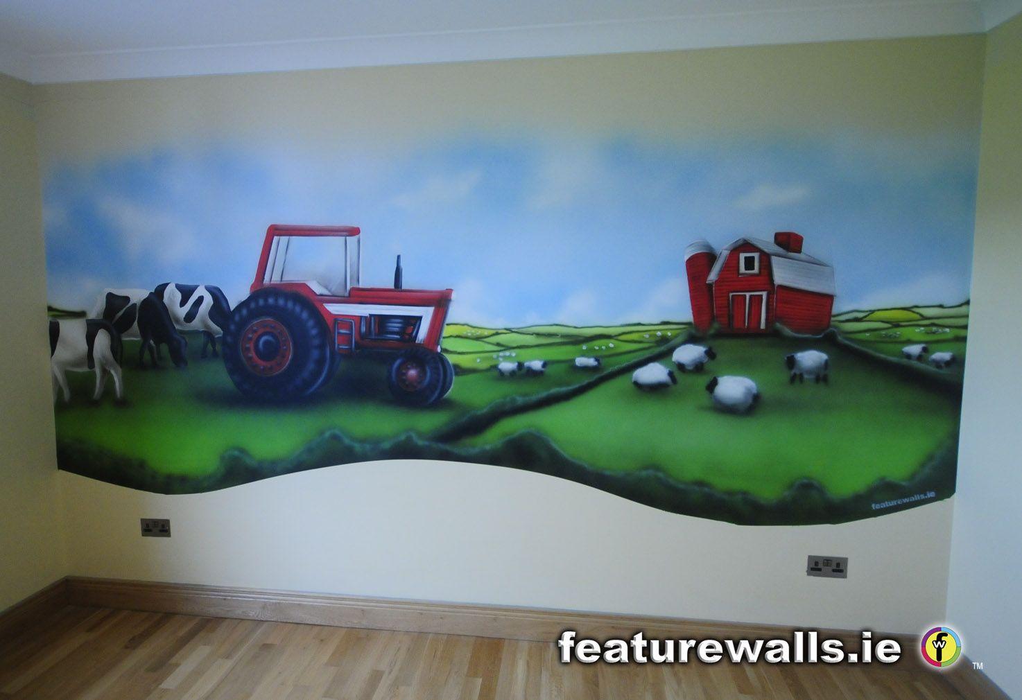 farm wall murals for children's room Farm Life Mural for