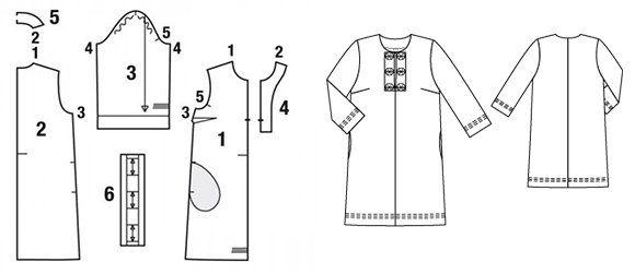 Скласти орігамі  як пошити сукню з декоративними планками  майстер-клас 7e1b723923170