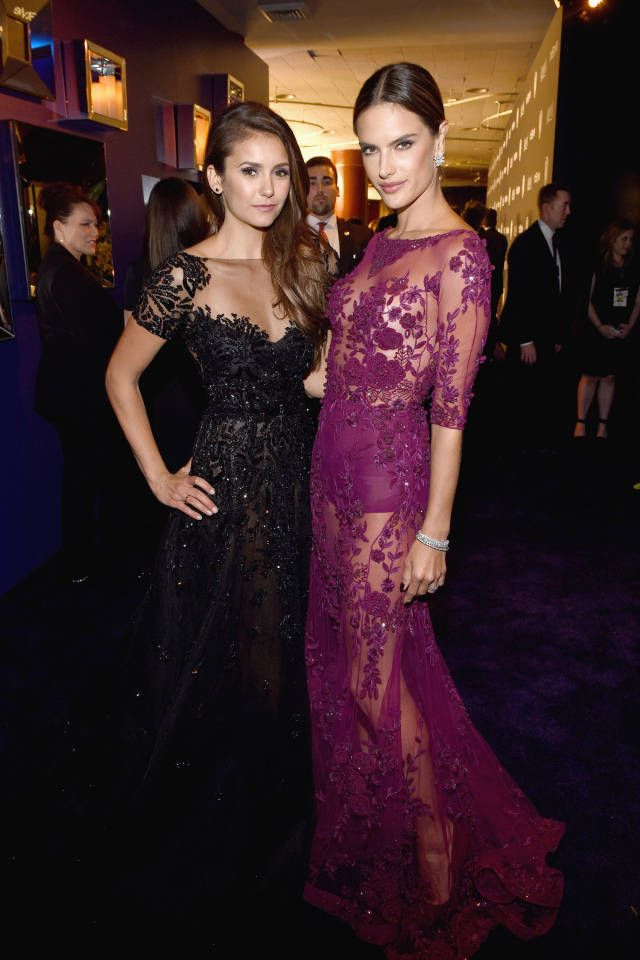 All of the chicest celebrity looks from last night's Golden Globes after parties: Nina Dobrev and Alessandra Ambrosio
