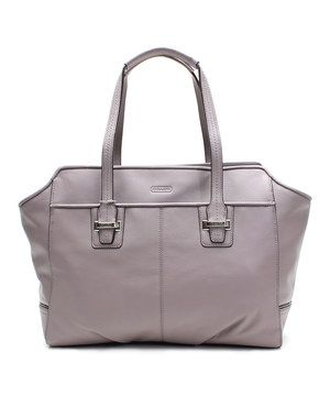 Another great find on #zulily! Coach Silver & Putty Taylor Alexis Leather Tote by Coach #zulilyfinds