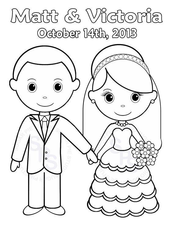 personalizada imprimible novia novio boda fiesta infantil nios archivo pdf o jpeg actividad de pgina para