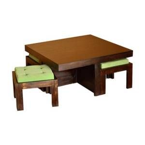 Coffee Table With 4 Stool