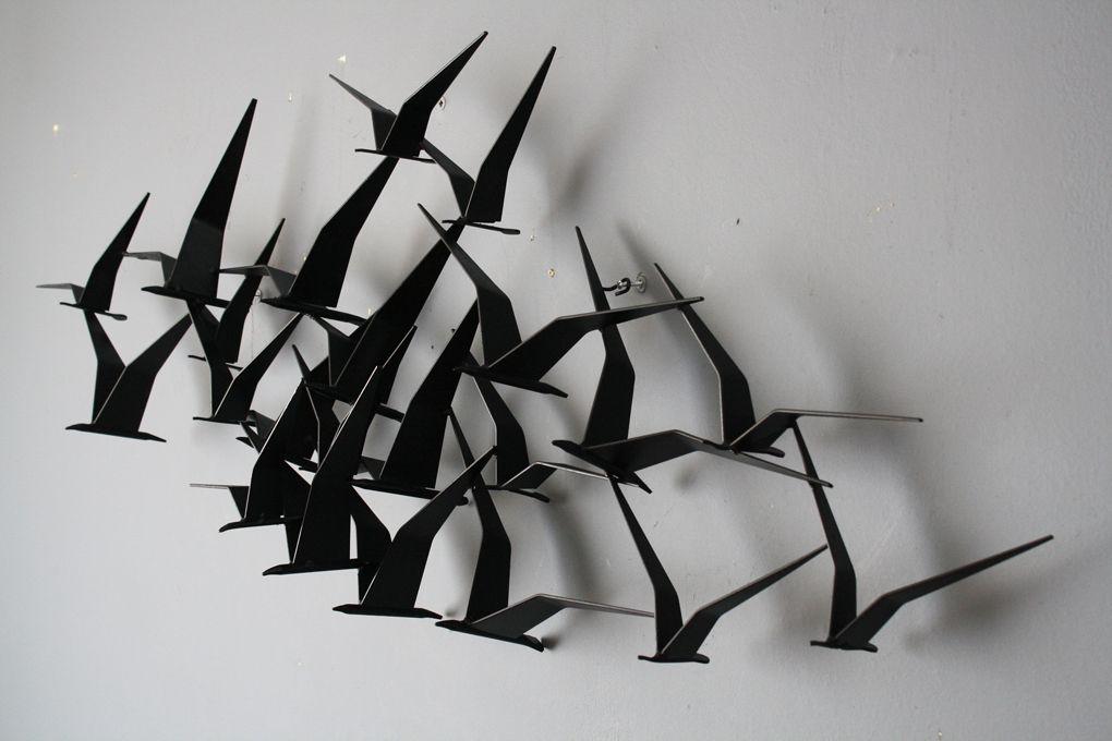 birds in flight metal wall art art pinterest metal wall