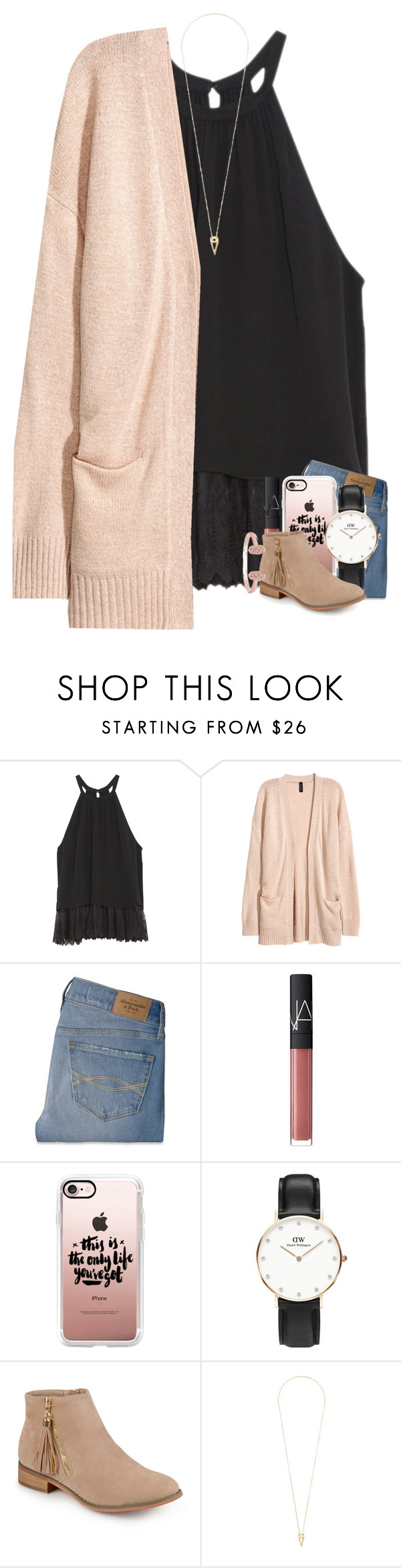 """listening to alessia cara"" by if-you-like-midnight-driving ❤ liked on Polyvore featuring OTTE, Abercrombie & Fitch, NARS Cosmetics, Casetify, Daniel Wellington, Journee Collection, Noor Fares and Kendra Scott"