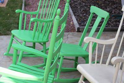 Stupendous Turn Inexpensive Yard Sale Rocking Chairs Into A Gorgeous Creativecarmelina Interior Chair Design Creativecarmelinacom