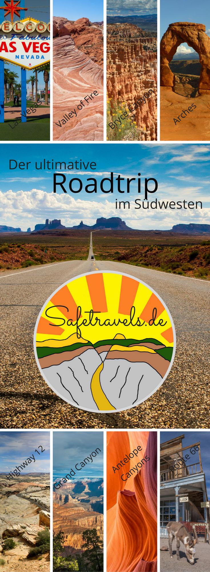 Ein Roadtrip durch die unendlich schönen Landschaften des amerikanischen Südwestens ist ein Erlebnis, das Du niemals vergessen wirst. Es macht Dich süchtig! Roadtrip / USA / Rundreise / Utah / Arizona / Las Vegas / Grand Canyon