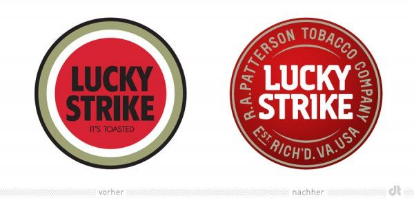 old new lucky strike logo... I liked the old one