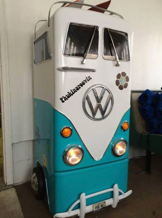 Sensational Vw Kombi Fridge In 2019 Paint Refrigerator Cool Beds For Squirreltailoven Fun Painted Chair Ideas Images Squirreltailovenorg