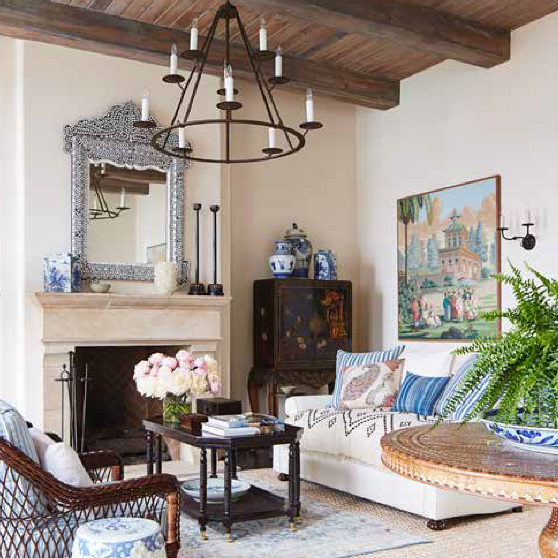 Montecito Mark D Sikes Interiors Spanish Living Room