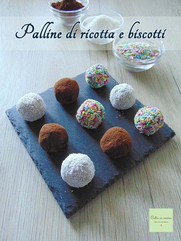 Palline di ricotta e biscotti | Catia in cucina