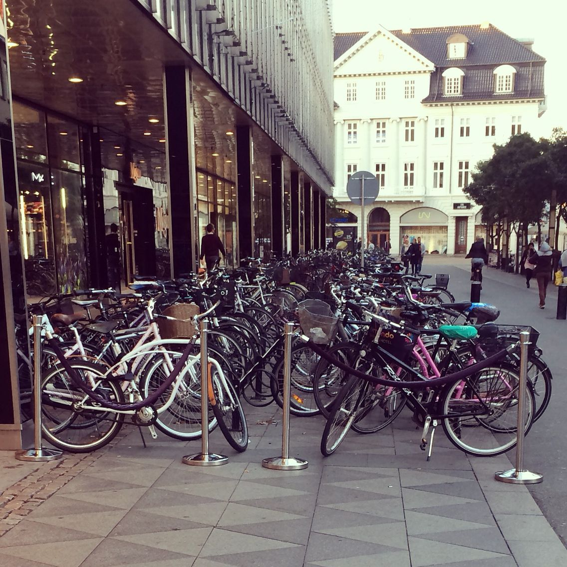Bikes The Primary Means Of Transportation In Aarhus Denmark