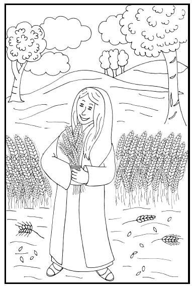 ruth gleaning coloring pages - photo#40