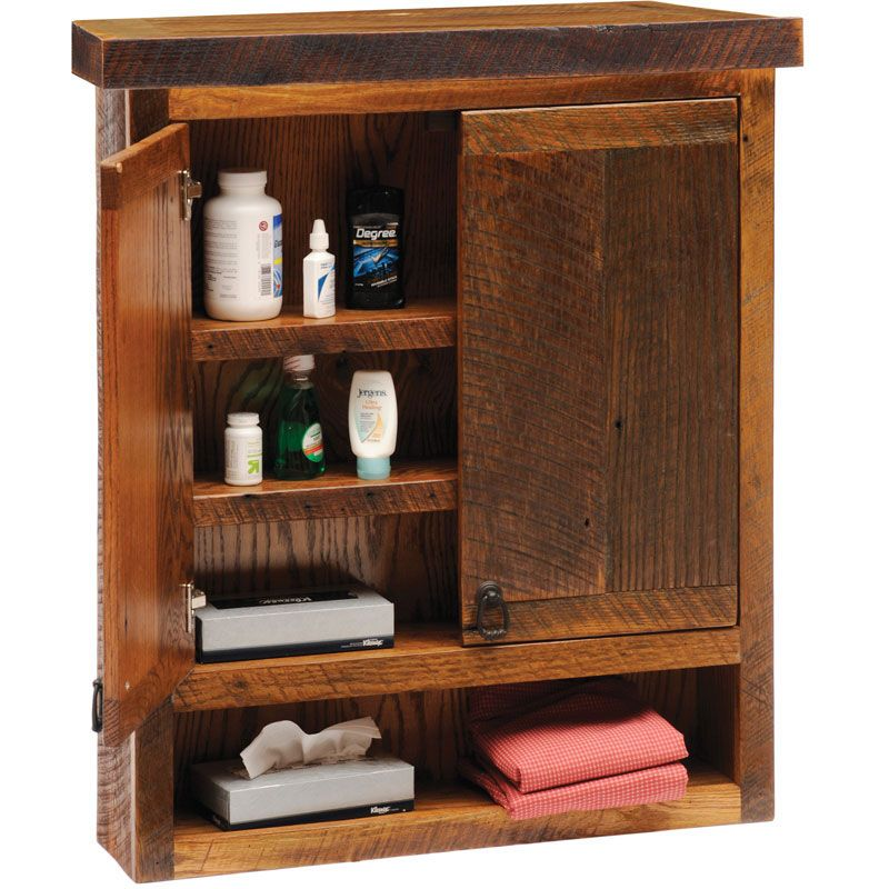 Awesome Rustic Bathroom Wall Cabinets