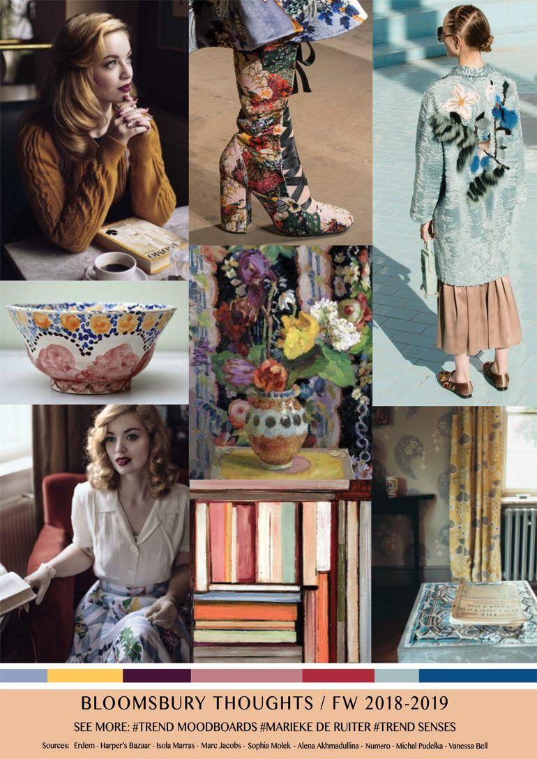 Moodboard FW 2018,2019 Bloomsbury Thoughts , Mode ideeën