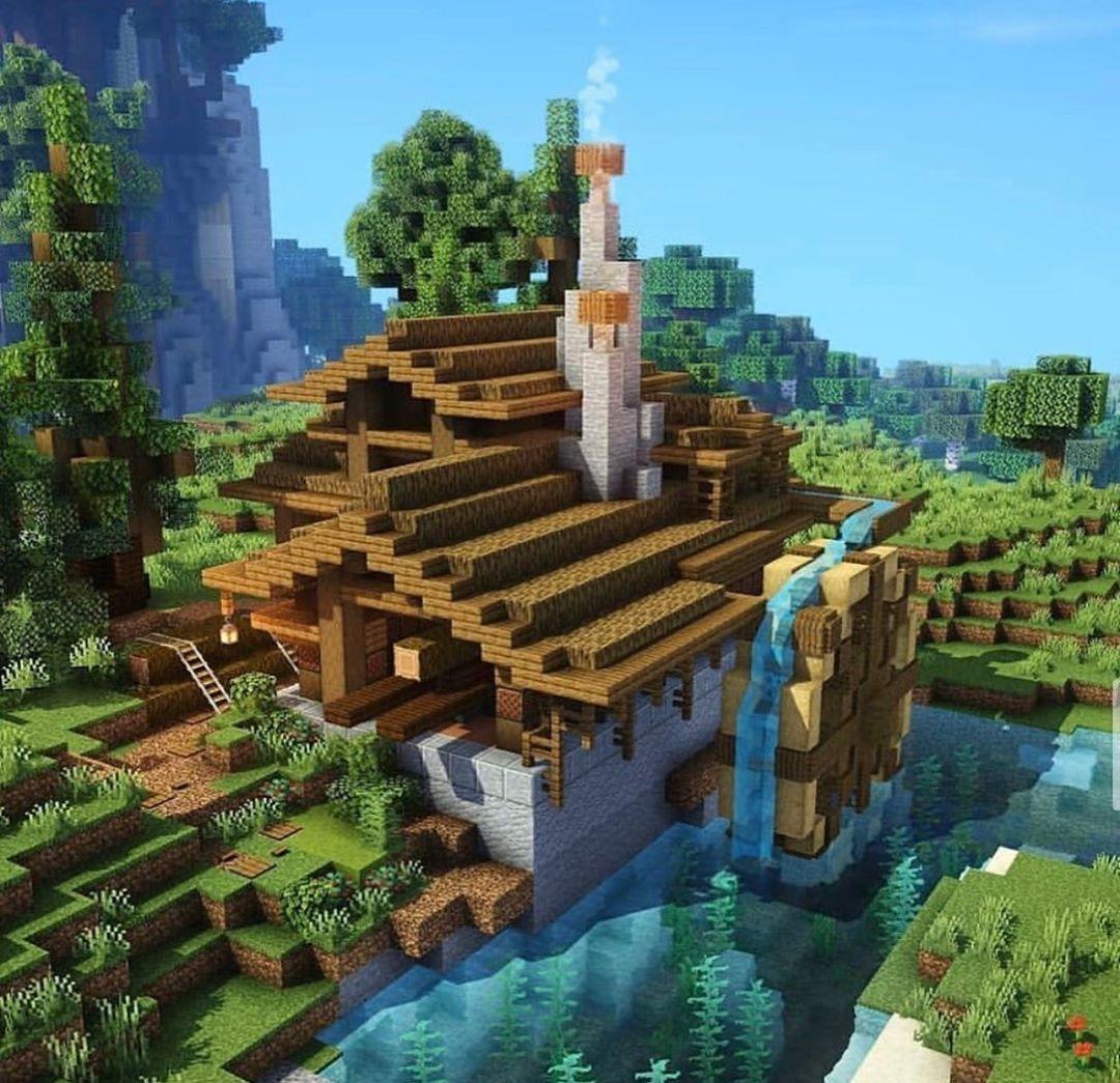 "Best of Minecraft Builds on Instagram ""Interesting lumber"