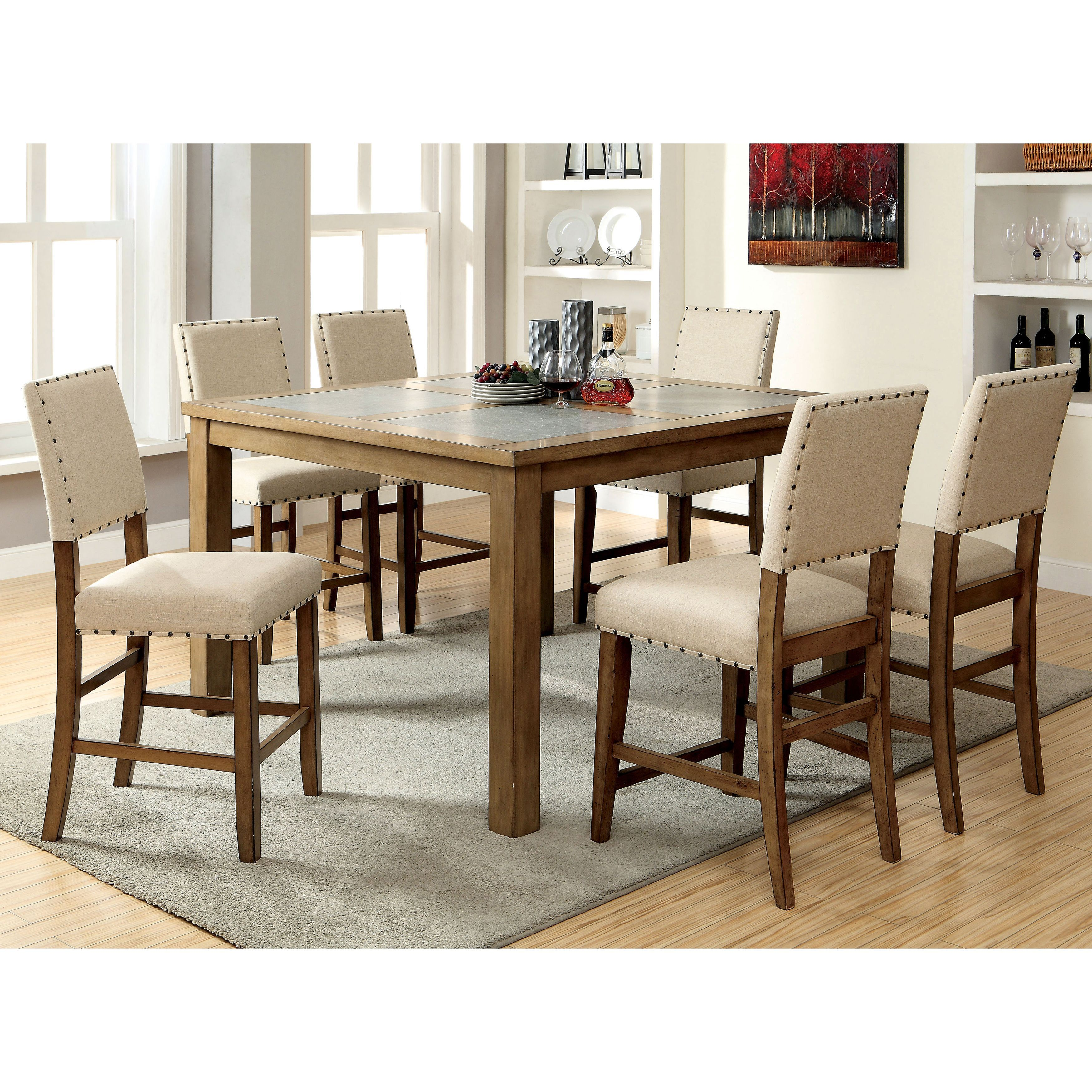 Enhance The Modern Style Of Your Home With This Exquisite Counter Height 7 Piece  Dining. Counter Height Dining SetsPub ...