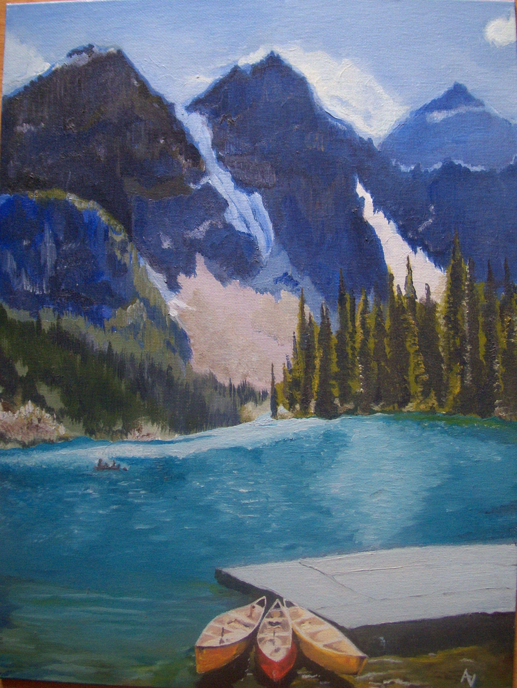 Lago en Canada Oleo sobre lienzo | Mis Pinturas | Pinterest ...
