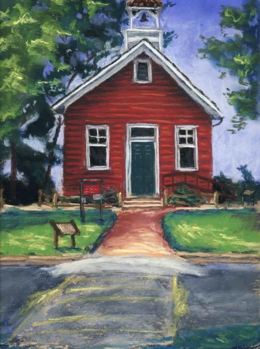Red House Drawing: Old School House, Vintage School
