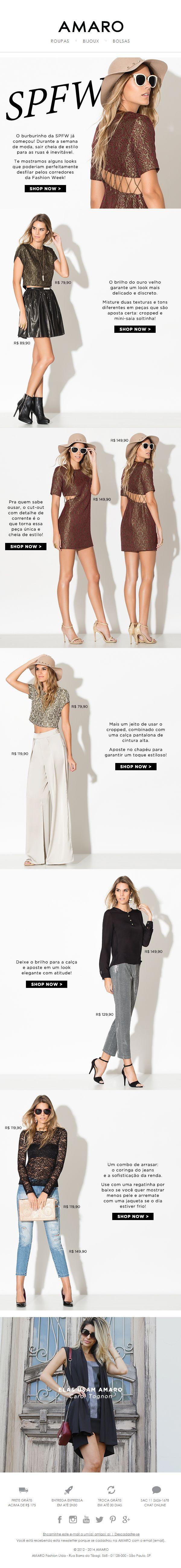 Newsletter AMARO AMARO Fashion SPFW