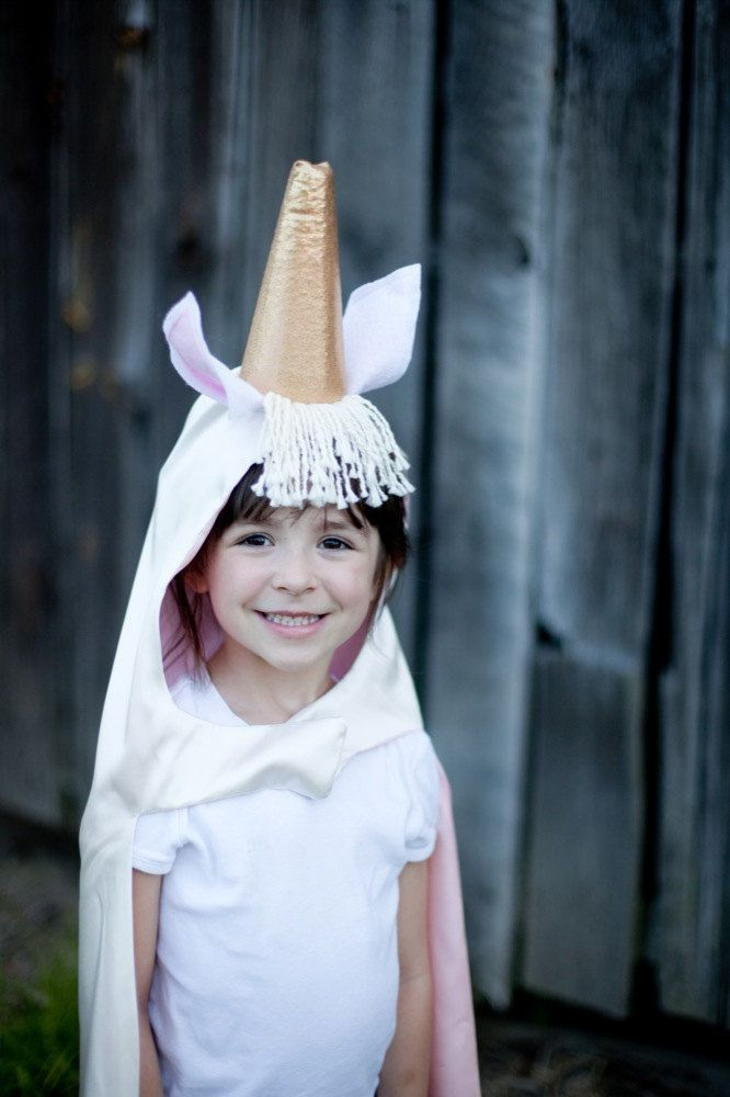 Children Unicorn costume cape - Girl Halloween costume - My Little Pony Costume. $49.00, via Etsy.