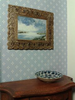 Miniature House: making frames for paintings