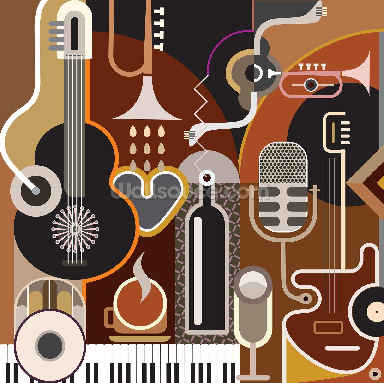 Music Abstract Wallpaper Wallsauce Uk Music Illustration Music Backgrounds Musical Art