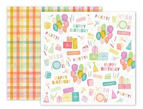 American Crafts 310436 Pink Paislee Birthday Bash 25 Pack