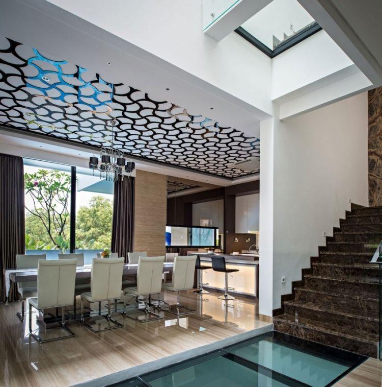 faux plafond design et sol carrel dans une maison design hermes art majeurs pinterest. Black Bedroom Furniture Sets. Home Design Ideas