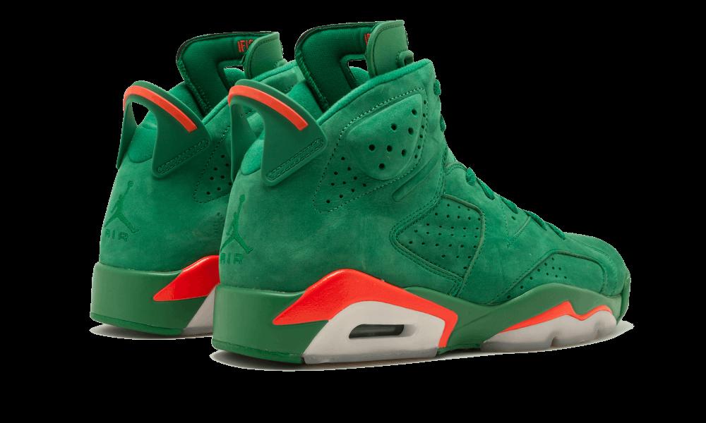 6d38793805dbeb Air Jordan 6 Retro NRG Pine Green Orange Blaze  Green Suede Gatorade ...