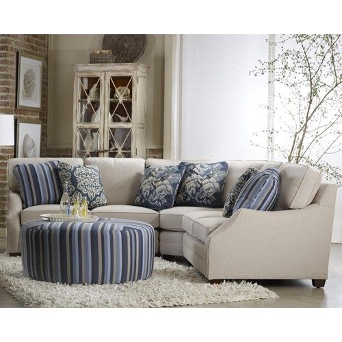 Leather Sectional Sofa Orlando Fl: Rita Transitinal Three Piece Sectional Sofa By Sam Moore