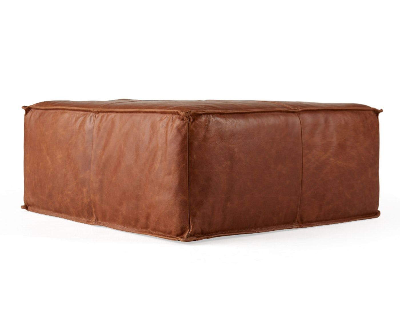 Magnificent Lyle Leather Ottoman In 2019 New Sd Home Leather Ottoman Creativecarmelina Interior Chair Design Creativecarmelinacom