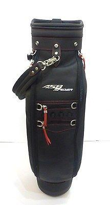 New Ferrari Golf Bag Black Leather 458 Spider Golf Club Bag W Red Stitching New Ferrari Ferrari Golf Bags