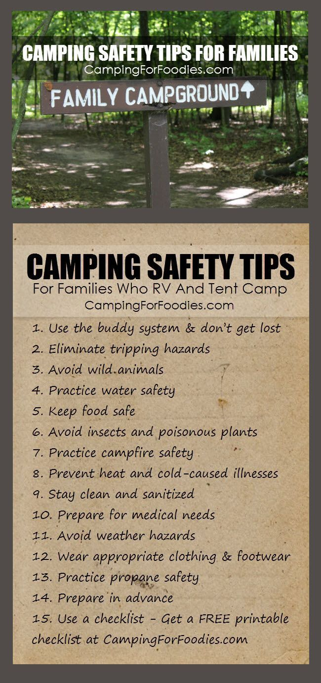 CAMPING SAFETY TIPS FOR FAMILIES WHO RV AND TENT CAMP