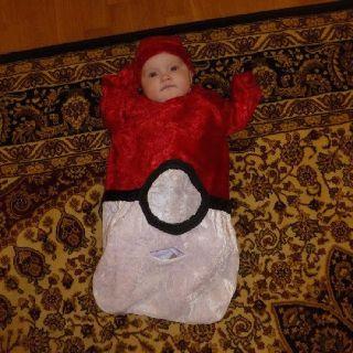 Homemade Baby pokemon Pokeball costume bunting sleep sack  sc 1 st  Pinterest & Homemade Baby pokemon Pokeball costume bunting sleep sack ...