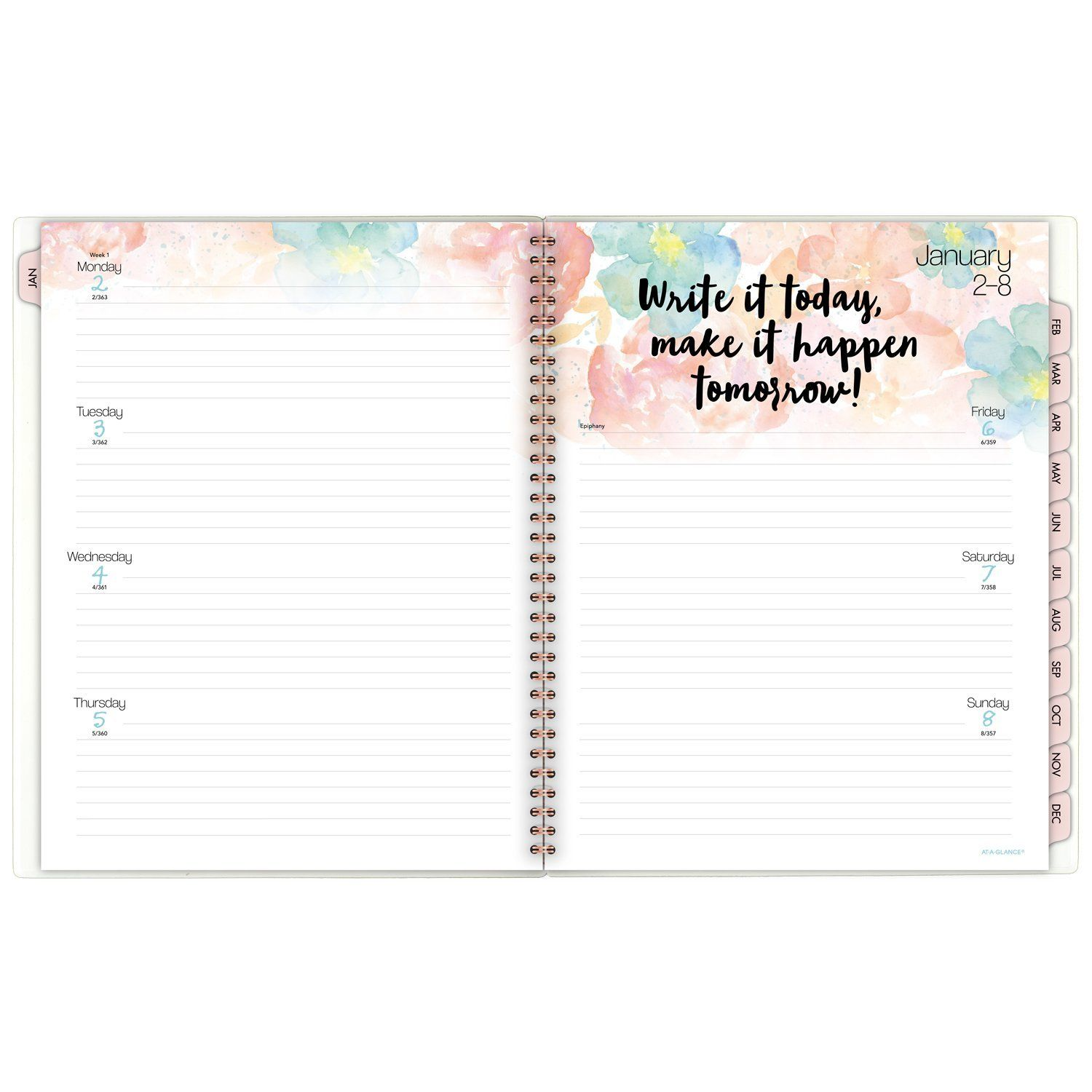 ataglance weekly monthly planner appointment book 2017 81 2 x 11