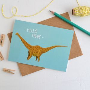 Hello Diplodocus Dinosaur Card
