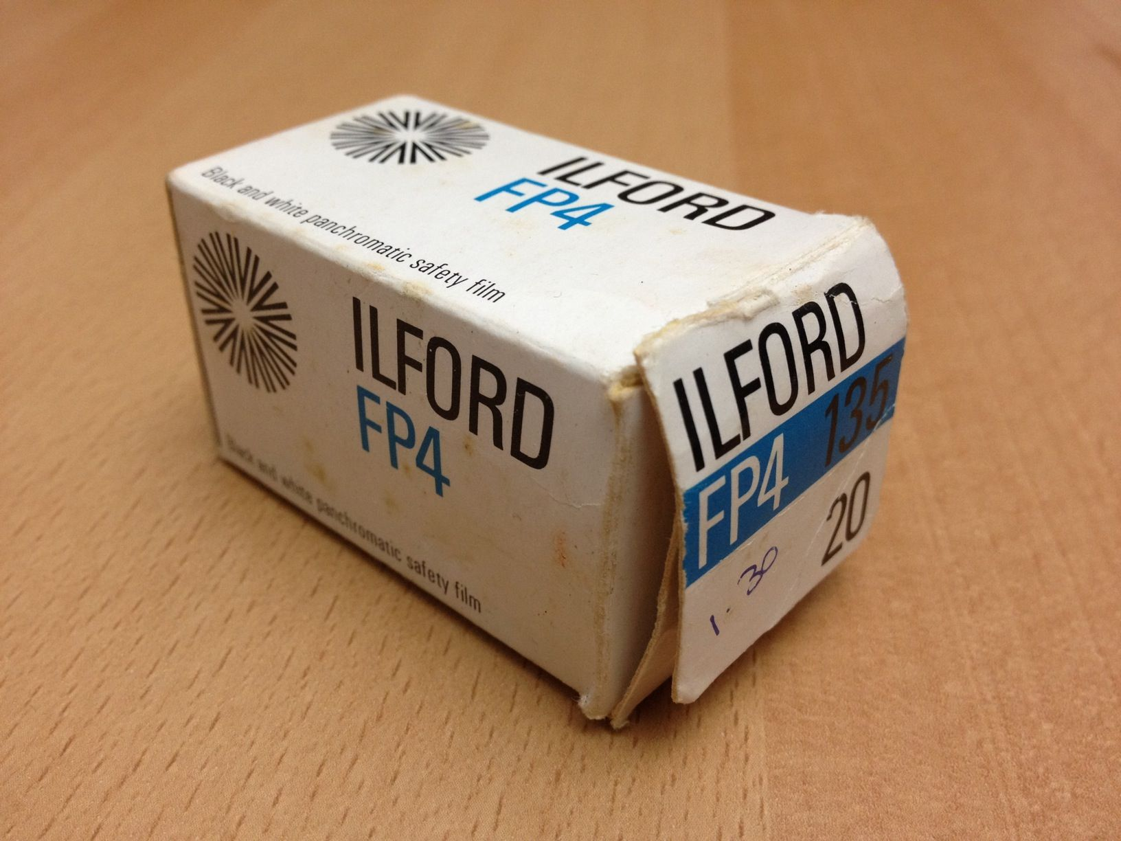 Ilford FP4 box. The expiry date is June, 1979.