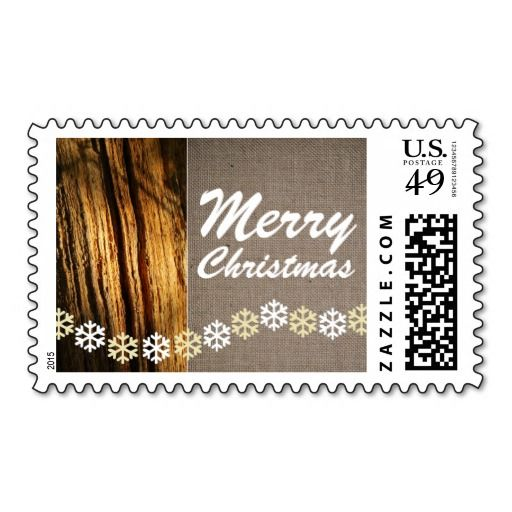 Rustic Snowflakes Christmas Postage Stamps