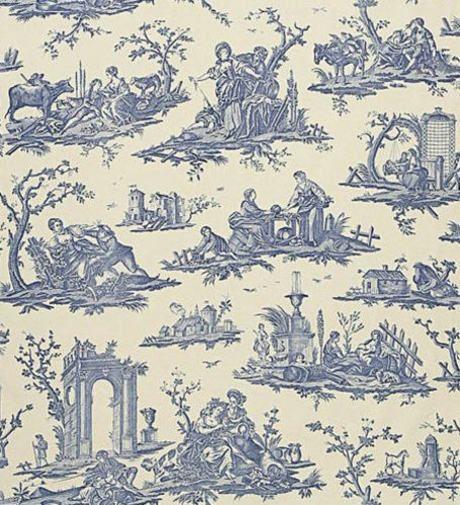 toile de jouy toile de l 39 amour toile de jouy bleue toile de jouy toile et tapisserie. Black Bedroom Furniture Sets. Home Design Ideas