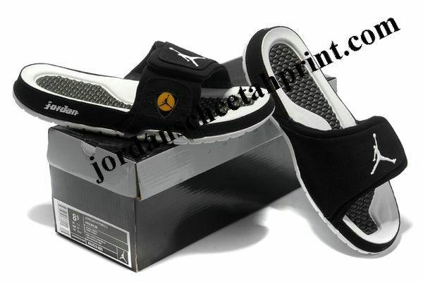 cc4d16f4afcfbf Cheap Air Jordans 14 Massage Slippers Black White Yellow