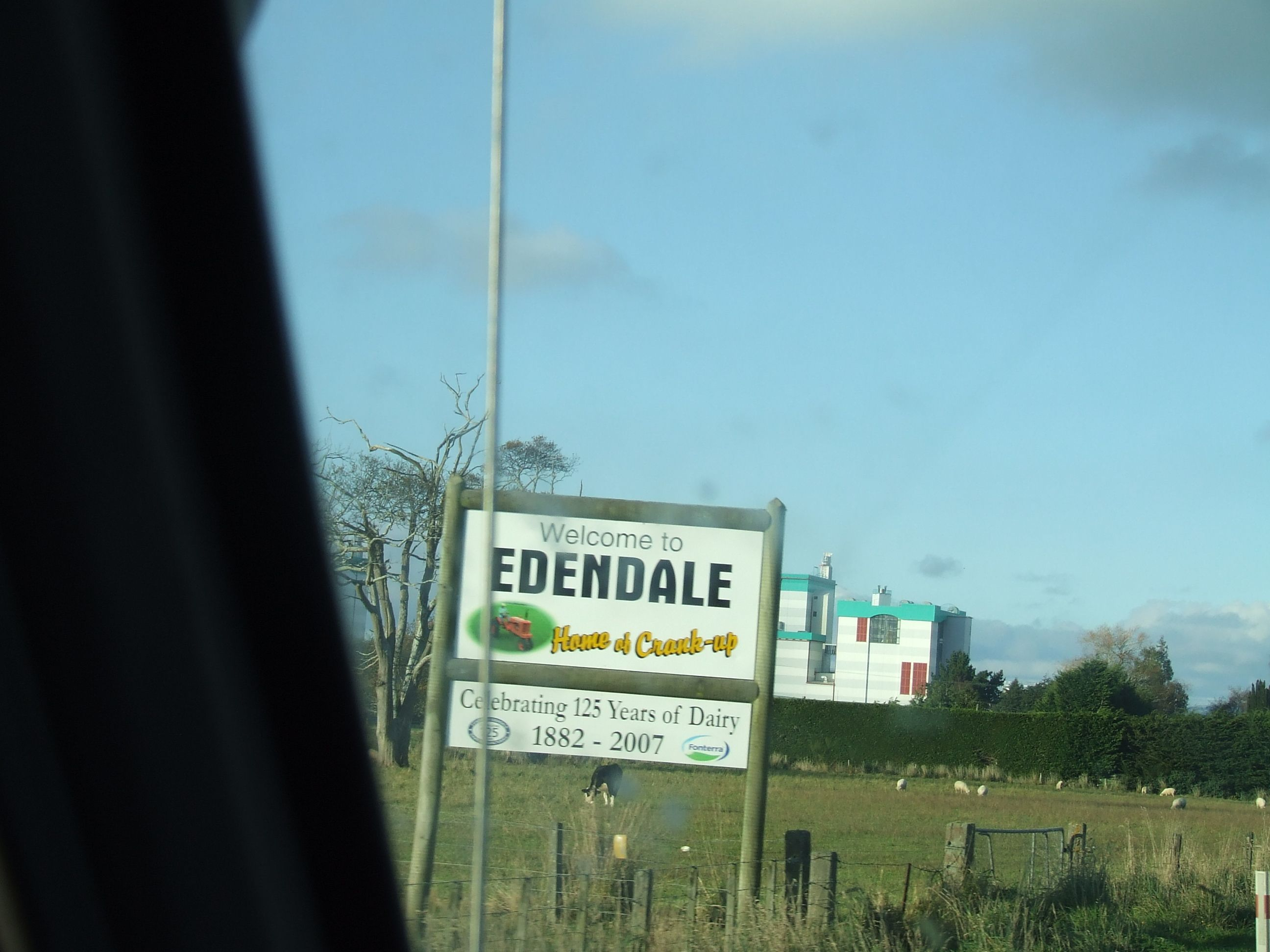 Edendale Sign, New Zealand