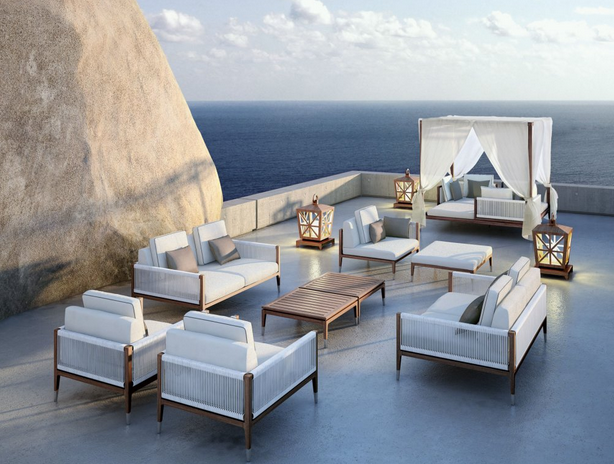 Italian Teak Wood Patio Furniture Amalfi Gazebo From Smania For Yacht Market