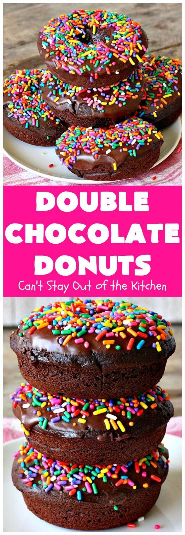 Double Chocolate Donuts | Can't Stay Out of the Kitchen | these are irresistible & perfect for a like or The chocolate icing & make them heavenly.