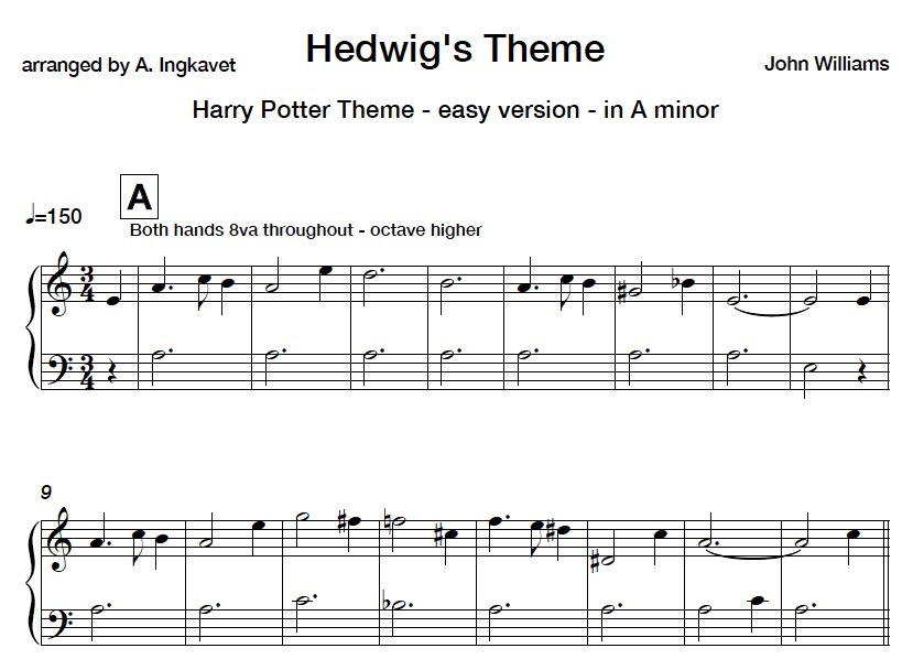 image relating to Harry Potter Theme Song Piano Sheet Music Printable Free identified as Harry Potter Topic simple piano sheet new music Harry Potter